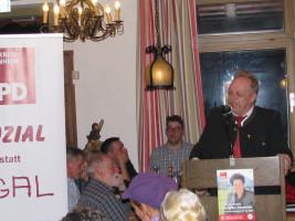 """Wolfgang Kirner (Bad Endorf): """"Die SPD ist die Partei, die unterschiedliche Interessen zusammen bringt. Die Wirtschaft fördern, aber das soziale im BLick haben: so handle ich auch als Unternehmer. Unsere Gesellschaft hat diese Leitplanken dringend nötig."""""""