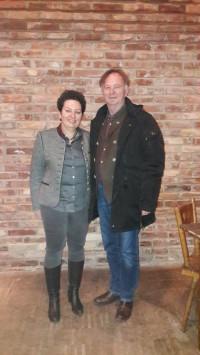 Landtagskandidaten Alexandra Burgmaier und Michael Lerchenberg