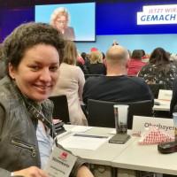 Alexandra Burgmaier auf dem Nominierungsparteitag der BayernSPD in München