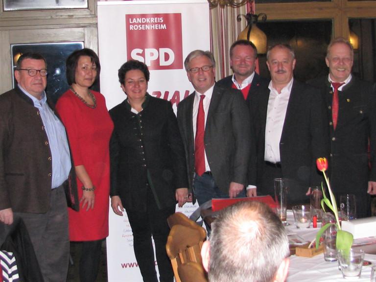 Ein starkes Team: Landrats- und Bürgermeister-Kandidaten der Landkreis-SPD